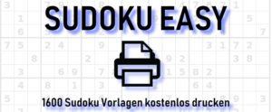 Sudoku leicht ausdrucken