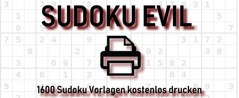 Sudoku sehr schwer drucken