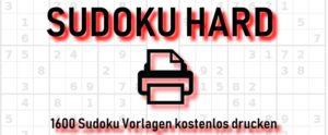 Sudoku schwer drucken