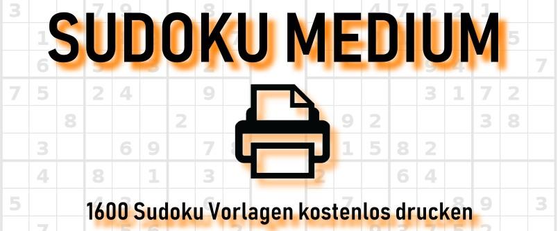 Sudoku medium ausdrucken