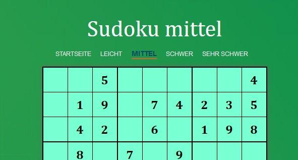 Image Sudoku mittel