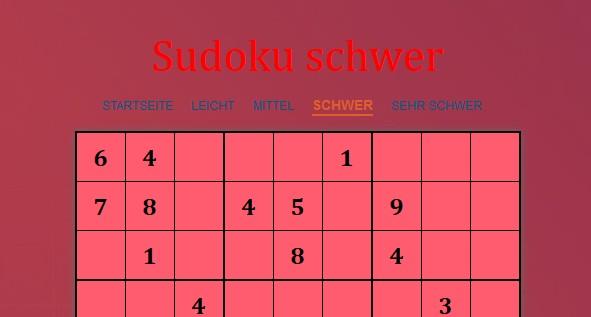 Image Sudoku schwer