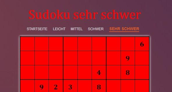 Image Sudoku sehr schwer